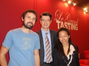 Kenny and Haruka with Philippe Guigal, General Director & Winemaker of E. Guigal