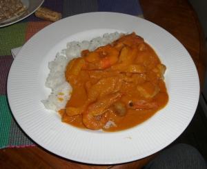 Red Thai Shrimp Curry