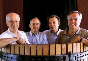 Bruno Prats, Ghislain de Montgolfier, Paul Pontallier & Felipe de Solminihac