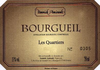 """2006 Yannick Amirault """"Les Quartiers"""" Bourgueil"""