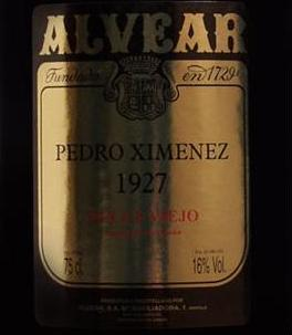 "NV Alvear Pedro Ximenez ""1927 Solera"""