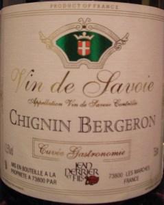 """2007 Jean Perrier et Fils """"Chignin Bergeron Cru, Cuvée Gastronomie"""""""