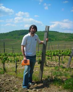 Kenny in Tokaj vineyard