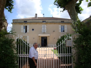 Jean-Michel outside of his house adjacent to Chateau Lynch-Bages