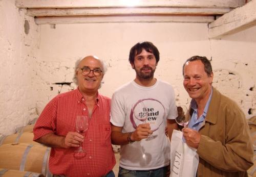 Right-left: Michel Gracia, Kenny Galloway, Jean Luc Thunevin