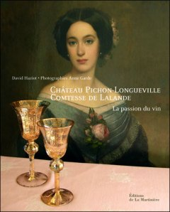 Book published on Chateau's history, featuring the Comtesse de Lalande on the cover